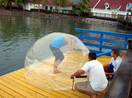 Inflatable Ball for Walking on Water