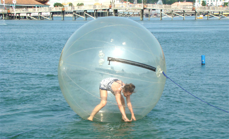 Ball Lets You Walk On Water