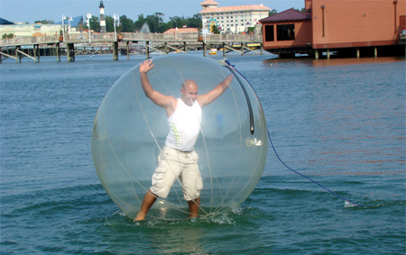 Air Ball for Walking on Water