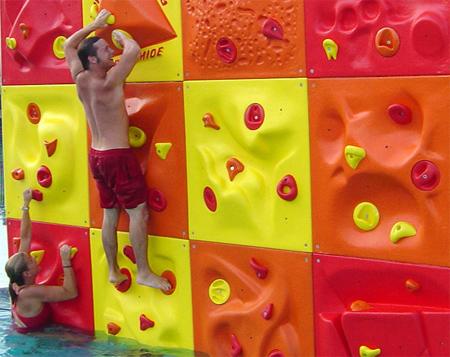 AquaClimb Poolside Climbing Wall