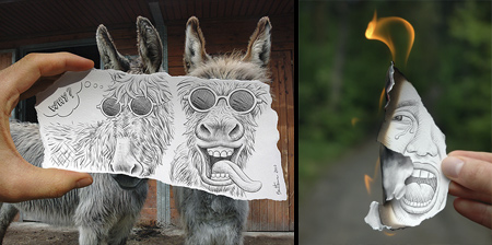 Drawings Combined with Photographs
