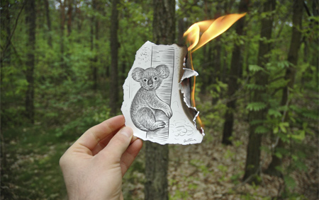 Burning Drawing