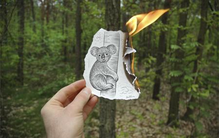 Burning Drawing