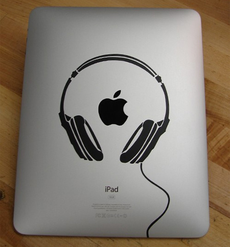 Headphones iPad Sticker