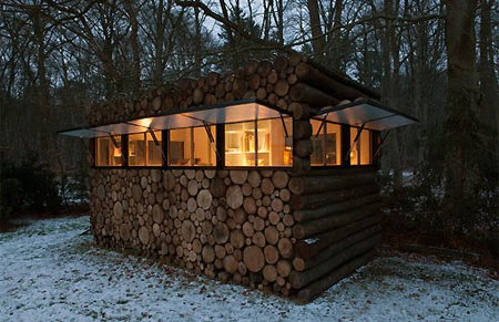 Office Built from Logs