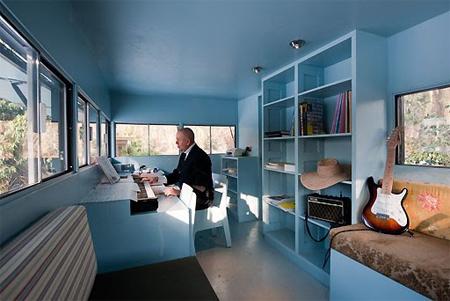 Log Office Interior