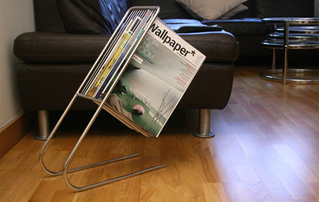 Chrome Magazine Rack
