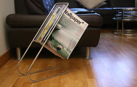 Chrome Magazine Rack
