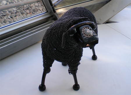 Telephone Sheep Sculpture