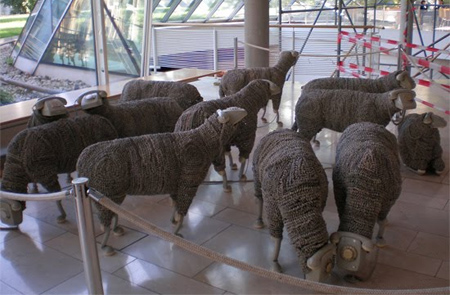 Phone Sheep Sculptures