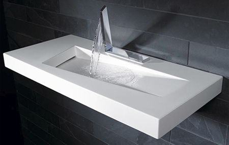 Pedestal Bathroom Sinks on Moon Slice Sink Creative Kitchen Sink By Granite Naples Resembles
