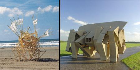 Wind Powered Walking Sculptures