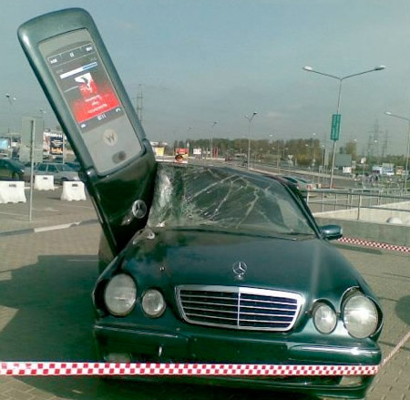 Motorola RAZR Car Advertisement