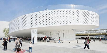 Futuristic Pavilion at Shanghai Expo