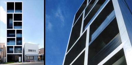 Slim Apartment Building in Japan