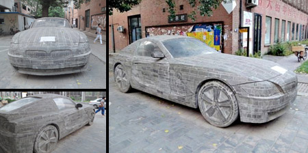 BMW Car made from Stone