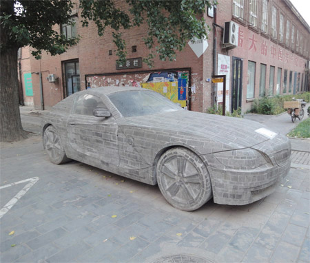 BMW Made out of Stone