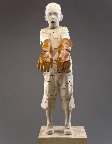 Wooden Sculpture by Gehard Demetz