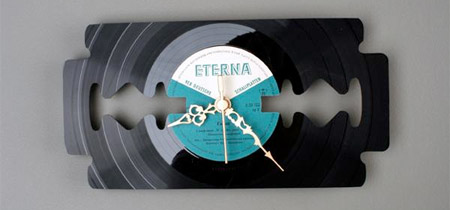 Clock made from Vinyl