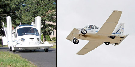 Flying Car with Retractable Wings
