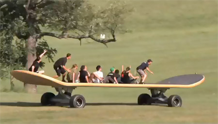 Worlds Largest Skateboard Disaster