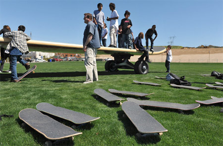 The Worlds Largest Skateboard
