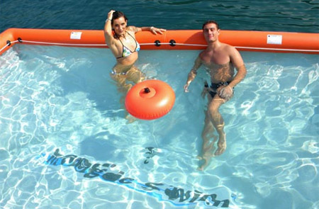 Inflatable Pool in the Ocean