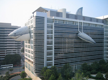 Inflatable Shark Building