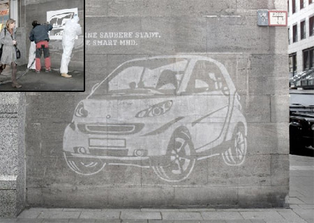 Smart Car Wall Ad