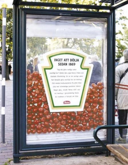 Heinz Bus Stop Ad