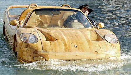 Wooden Ferrari Boat