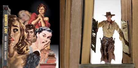 3D Art made from Book Covers Allen