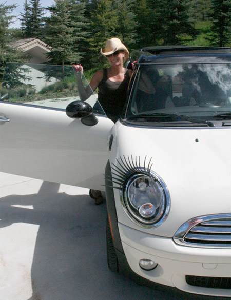 Eyelashes on a Car
