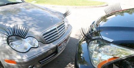 Eyelashes on Cars