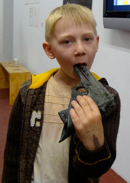 Gun made of Ice
