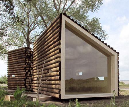 Log Cabin with Modern Interior
