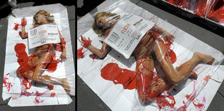 Human Meat Packages from PETA