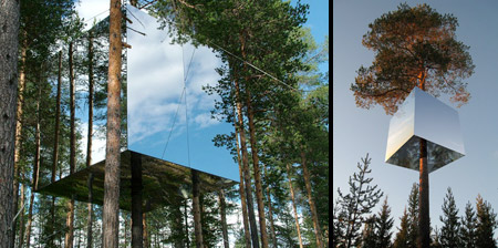 Mirrored Tree Hotel in Sweden
