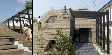 Stairs House in Japan