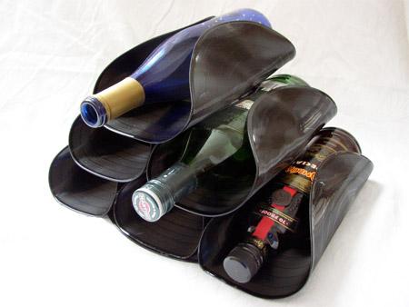 Vinyl Wine Rack