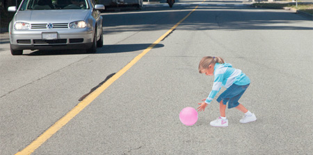 3D Illusion used to Slow Down Traffic