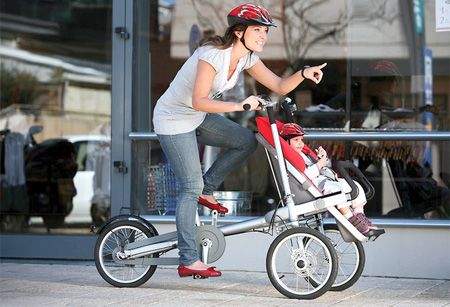 Baby Stroller and Bike Combo