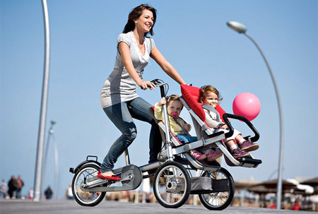 Bike Transforms into a Baby Stroller