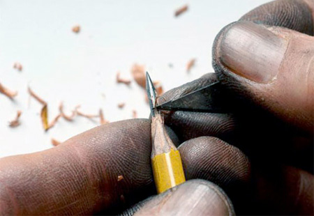 Pencil Lead Carving