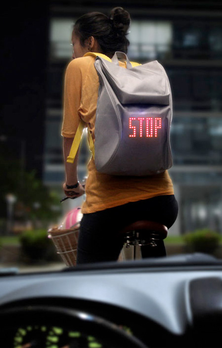 Backpack Shows Turn Signals