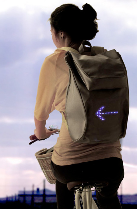 Backpack Shows Traffic Signals