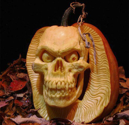 Halloween Pumpkin Sculpture