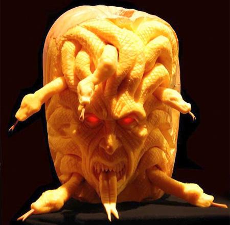 Cool Pumpkin Sculpture