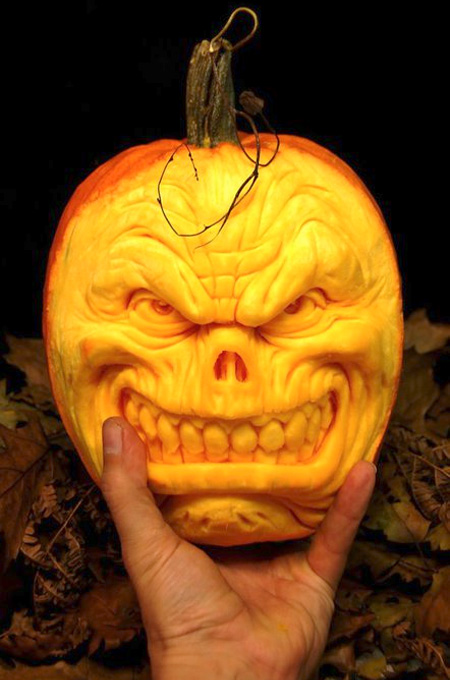 ... portraits into regular pumpkins. [ Ray's pumpkin carving tutorial