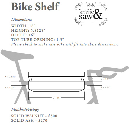 Bike Shelf Dimensions